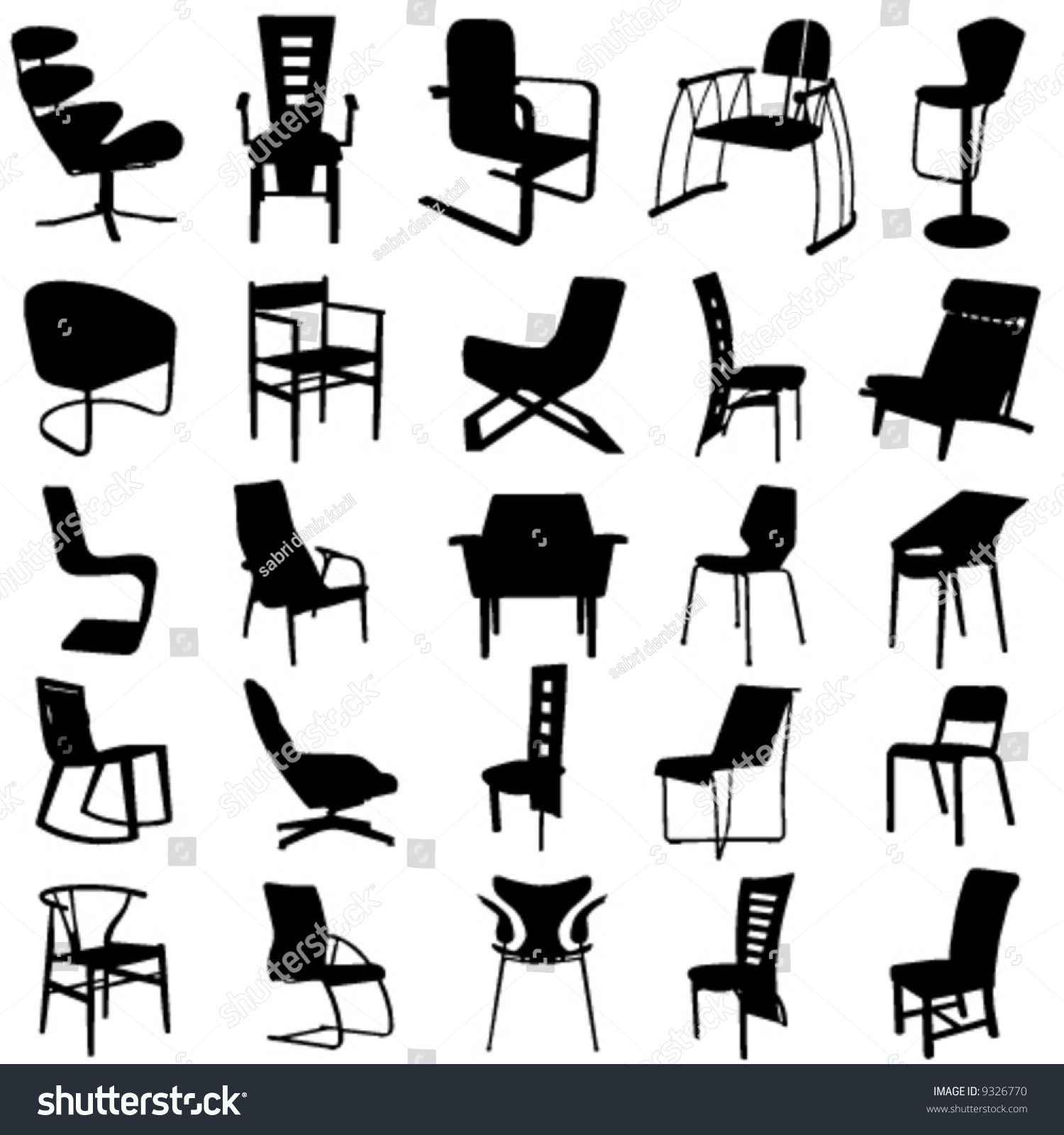 Modern Chair Vector 2 Modern Chairs Modern Chair
