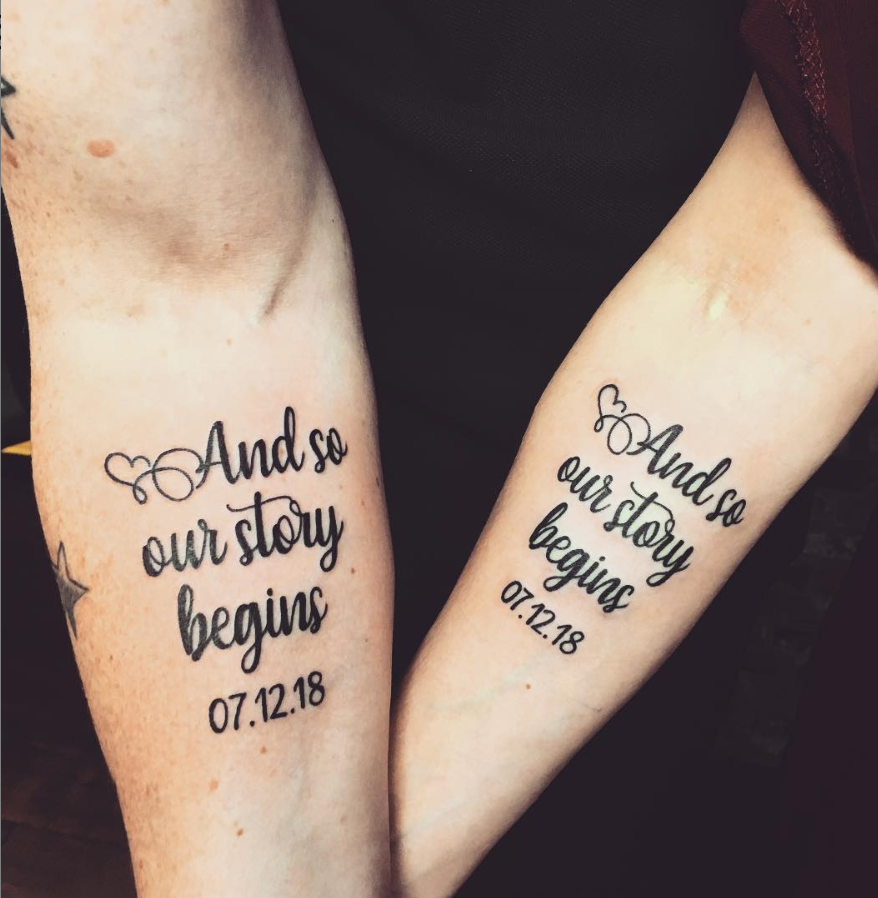 42 Meaningful Matching Couple Tattoo Ideas For Love