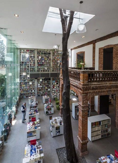 Old Mexican house converted in a stunning library