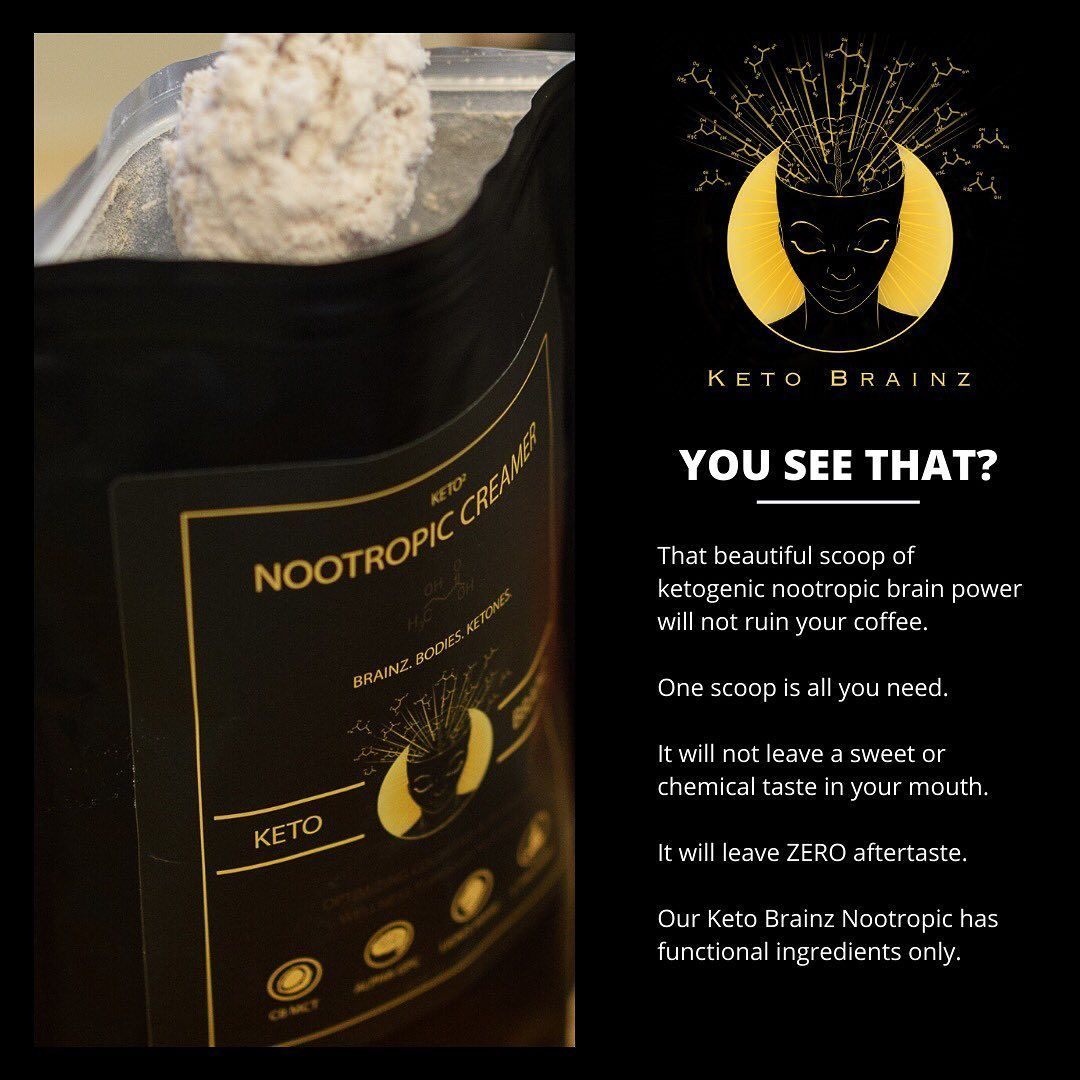 Keto Brainz On Instagram Pure Effective No Bs Our Keto Brainz Nootropic Creamer Is A High Functioning Nootropic Stack Bas Nootropics Pure Products Keto