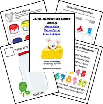 Mouse Paint, Mouse Count, Mouse Shapes Activities and Printables | M ...