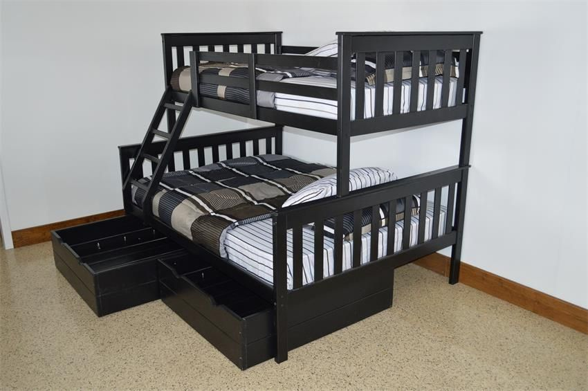 2935 Amish Kids Versaloft Twin Over Full Bunk Bed W Full Trundle