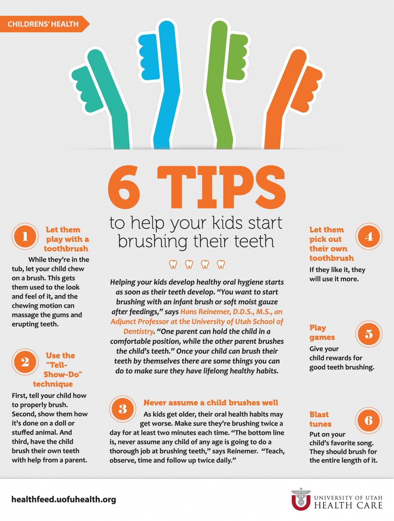 Tips For Teaching Your Child Healthy Teeth Brushing Habits
