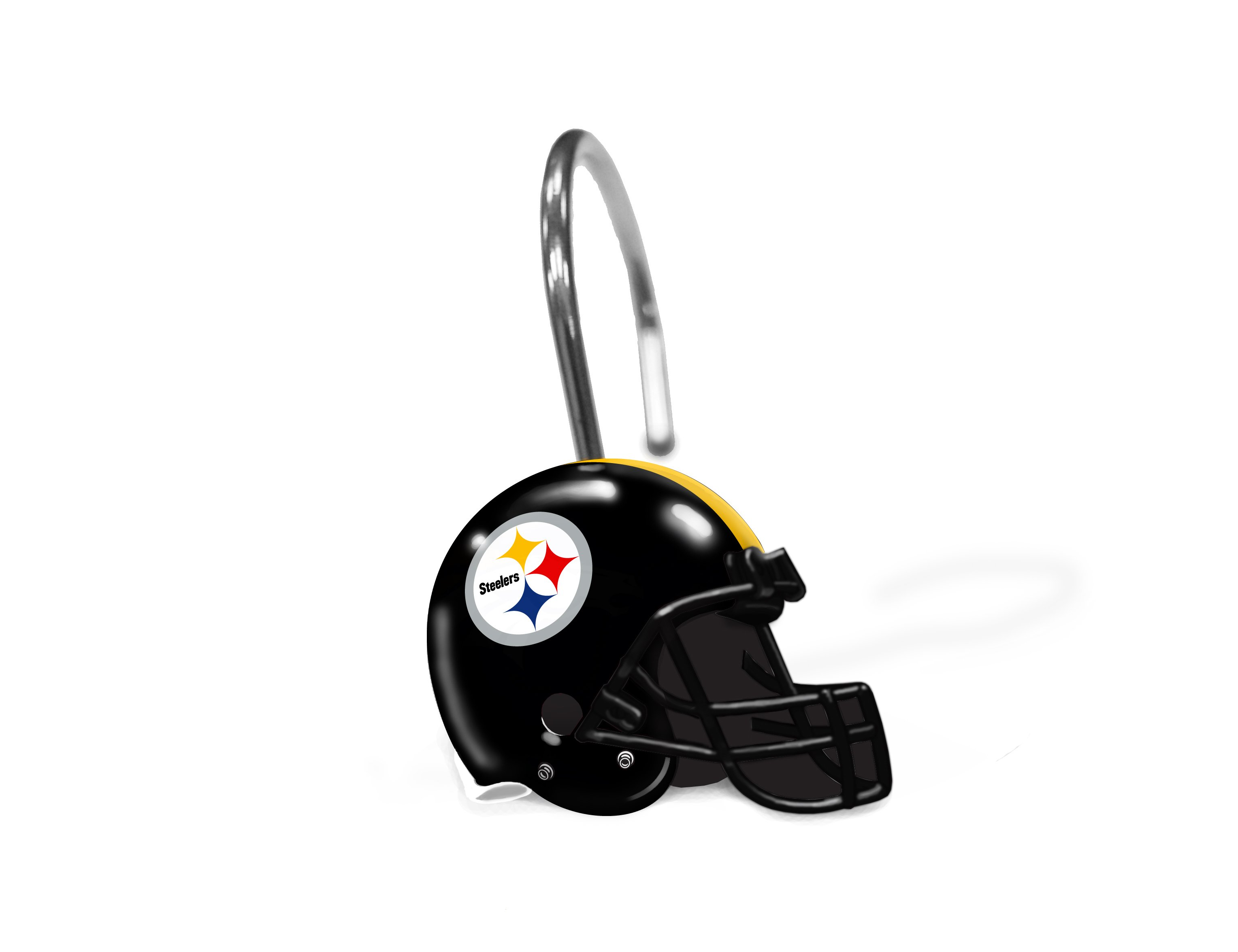 Steelers official national football league shower curtain rings