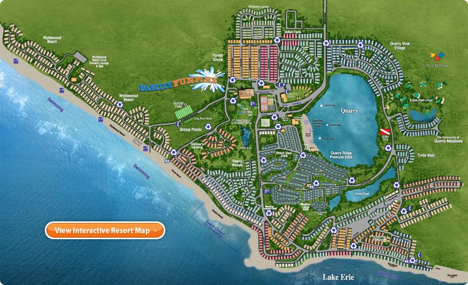 Sherkston Shores Map Sherkston Shores   Ontario, Canada   Resort Map | Travel | Beach