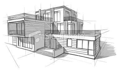 Photos architecture dessin | Maison dessin, Croquis ...