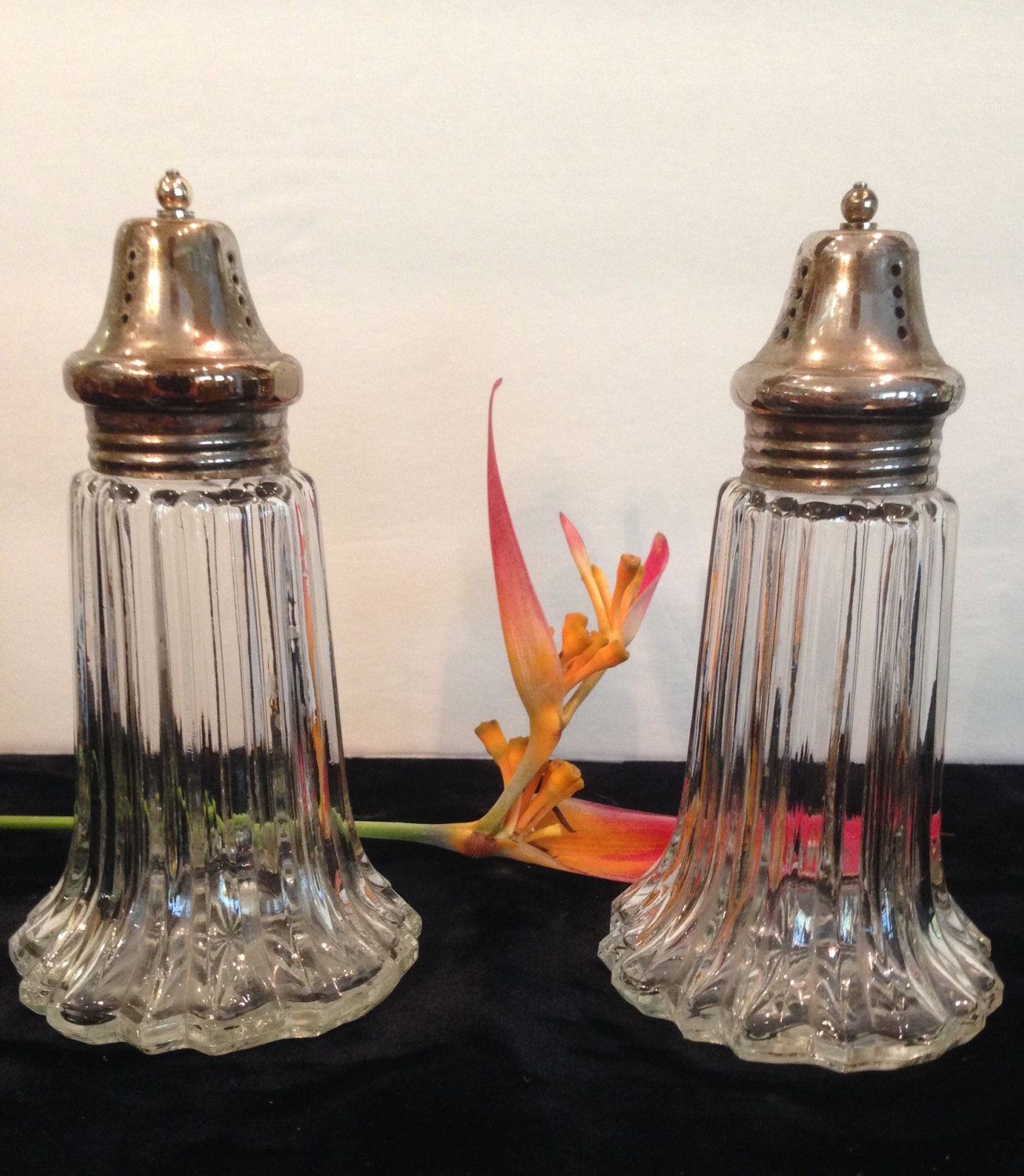 Vintage Leonard Salt and Pepper Shakers, 5 3/4 Inches Tall