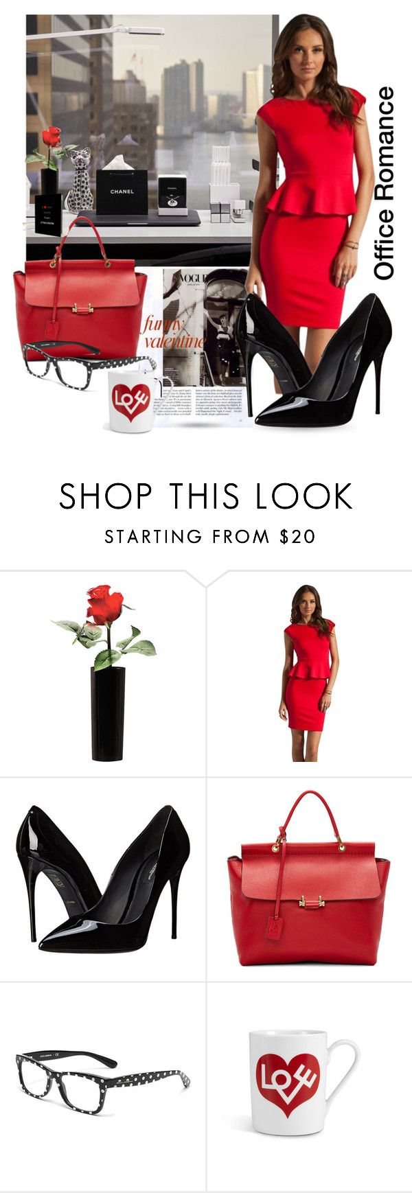 """""""Office Romance"""" by queenofsienna ❤ liked on Polyvore featuring Alice + Olivia, Dolce&Gabbana, Lanvin, Vitra, women's clothing, women, female, woman, misses and juniors"""