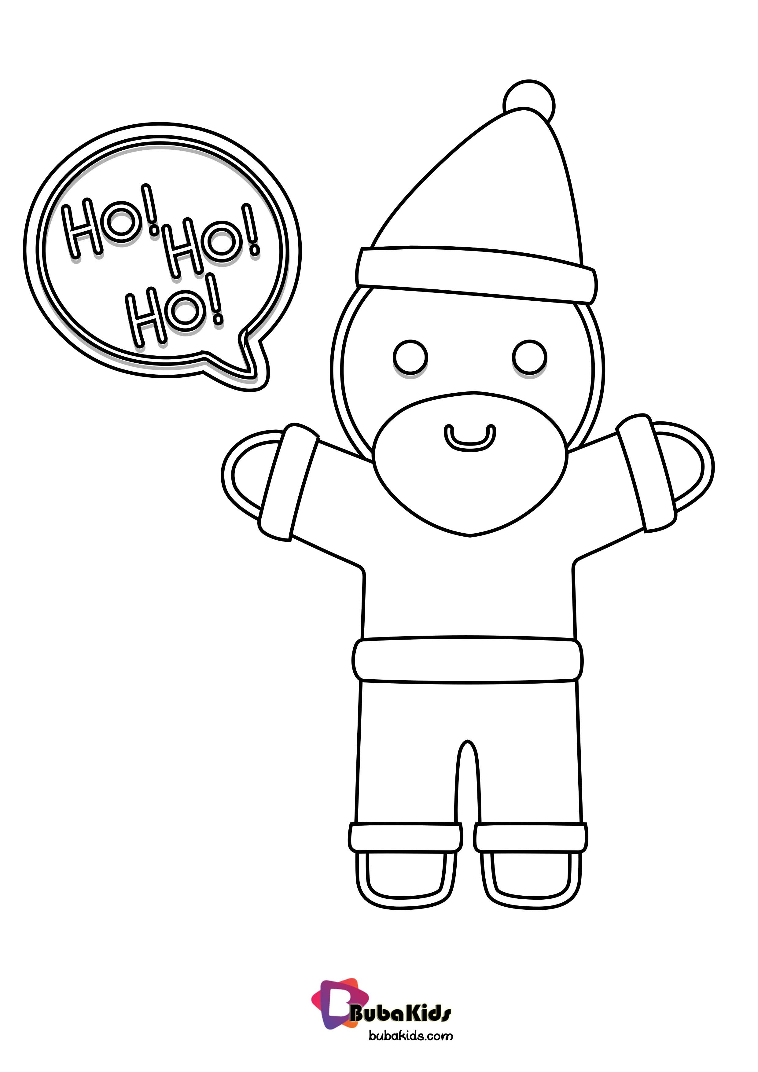 Gingerbread Santa Custome Coloring Page With Images