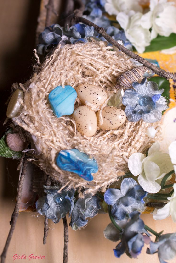 How to Make a Bird Nest for Your Next Mixed Media Art Project via @giselegrenier