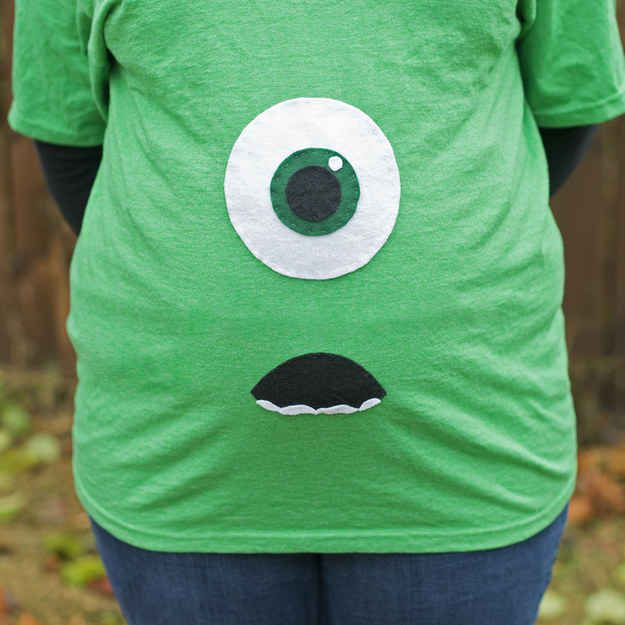 Make a Monsters, Inc. maternity costume.