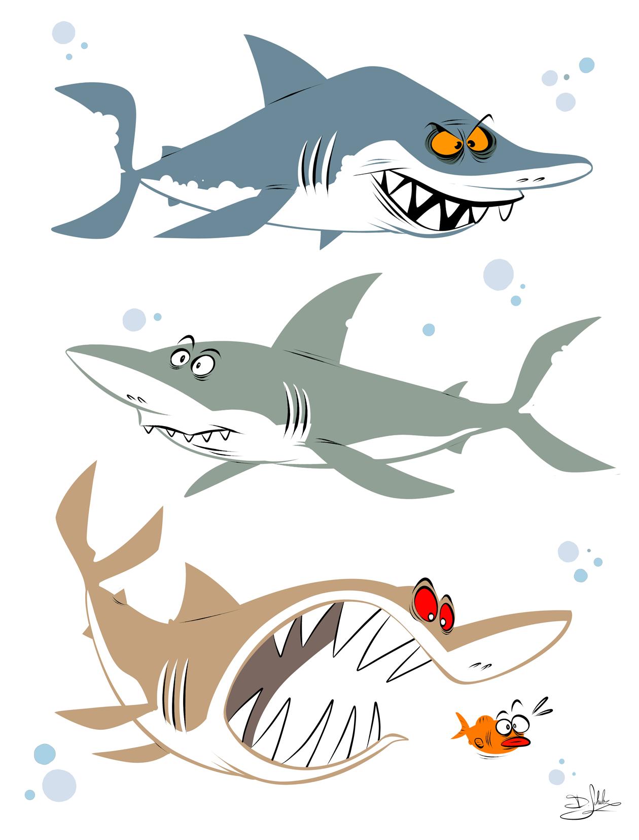 Смешные акулы рисунки