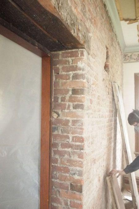 Brick Door w/ wood beam lintel & Brick Door w/ wood beam lintel | 4 SQ - BASEMENT | Pinterest | Beams ...