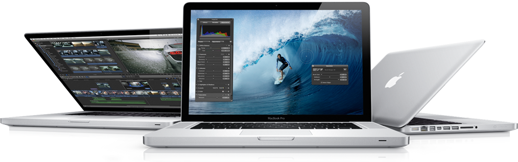 The New Macbook Pro. State-of-the-art processors. All-new graphics. Breakthrough high-speed I/O. Three very big leaps forward.