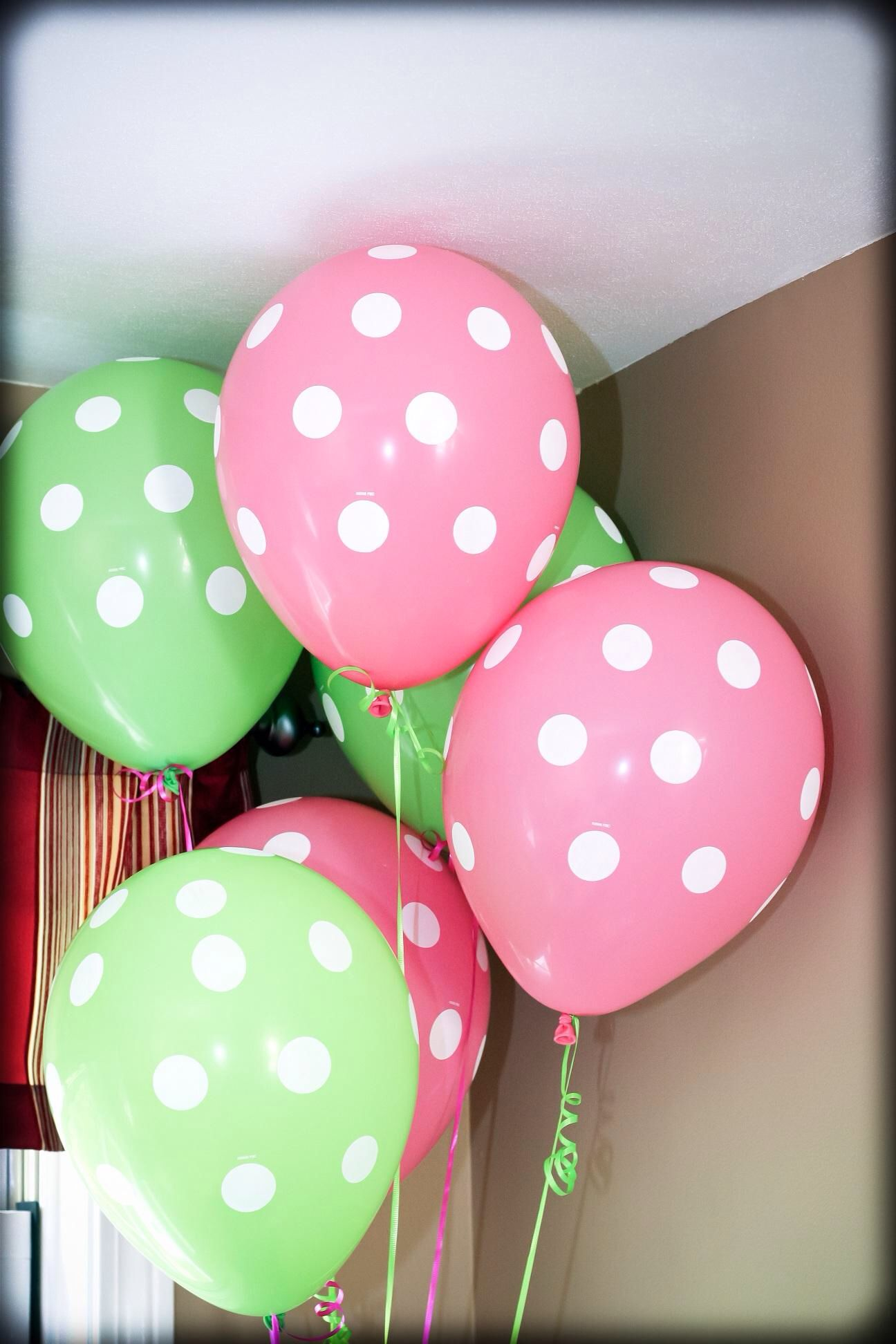 Pink And Green Balloons Isabelle S Second Birthday