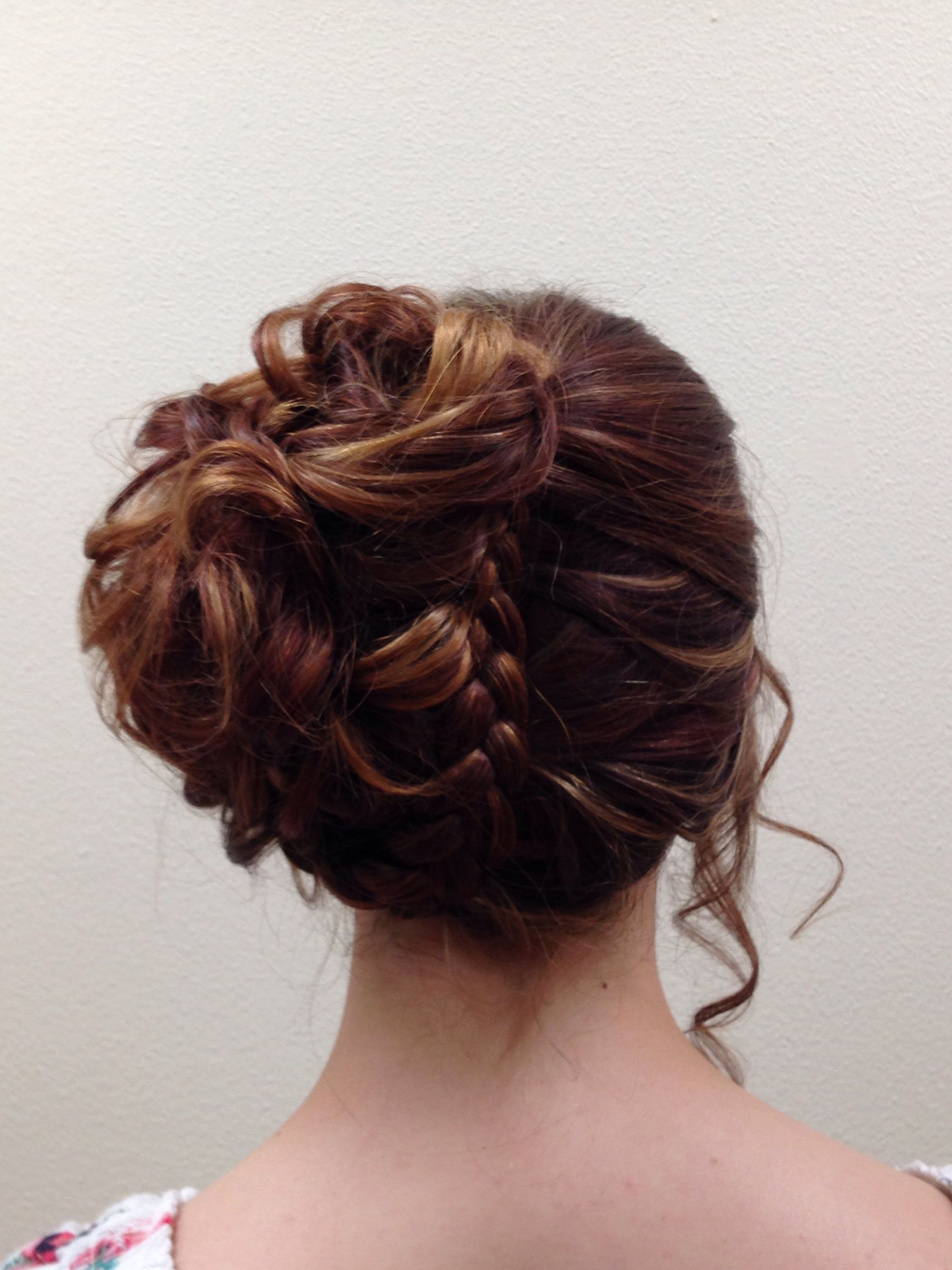 This was my hair for my th grade graduation it was perfectly