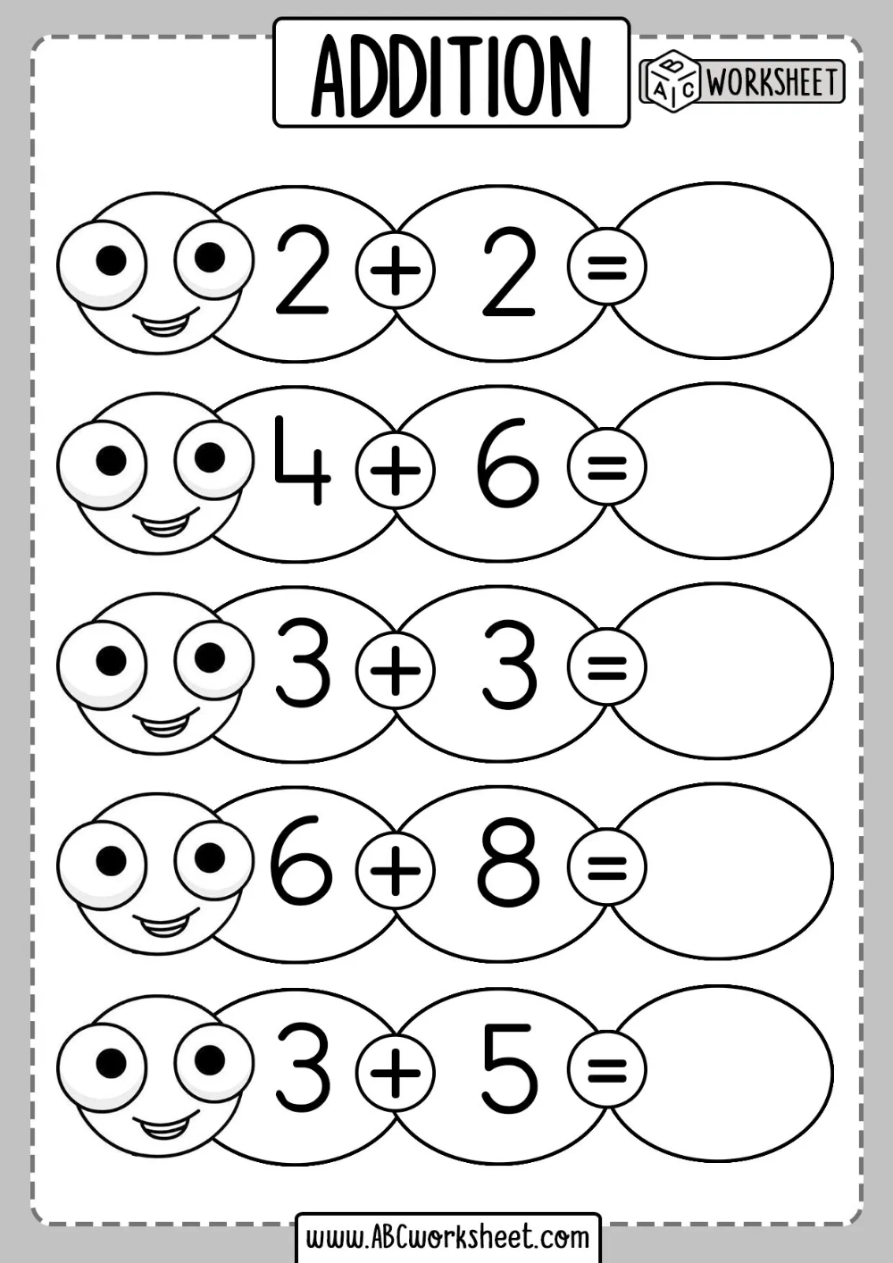 small resolution of Free Kindergarten Addition Worksheets   Addition worksheets