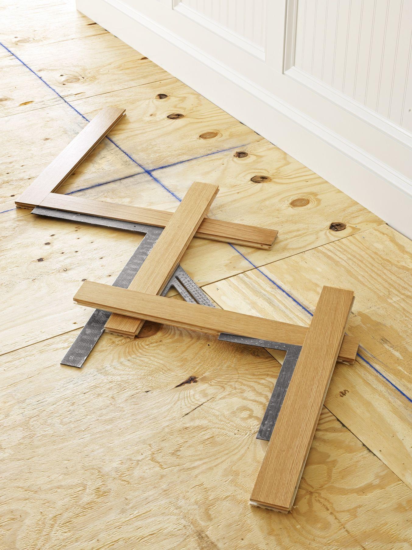 How to Install a Herringbone Floor Herringbone wood