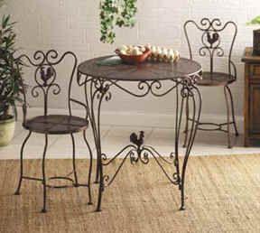 Tuscan Style Furniture   Chanticleer Bistro Table U0026 Chairs   Tuscan Decor  $159