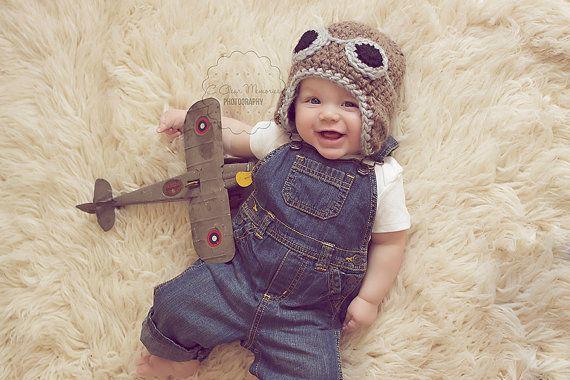 470574880839 Hat Crochet · Baby aviator hat newborn aviator hat boy hat by  SnuggleTimeKnits