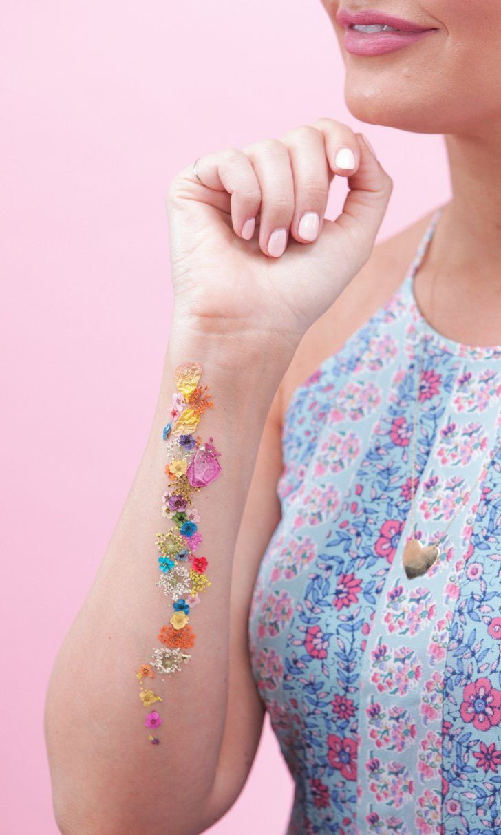 This Gorgeous Pressed Flower Tattoo Takes Only Minutes to DIY