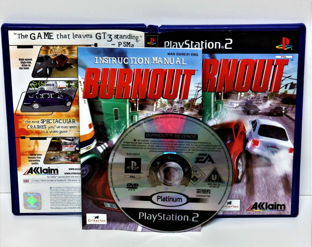 PLAYSTION 2 BURNOUT GAME PS1 PS2 PS3 PAL VGC Game COMPUTER VGC