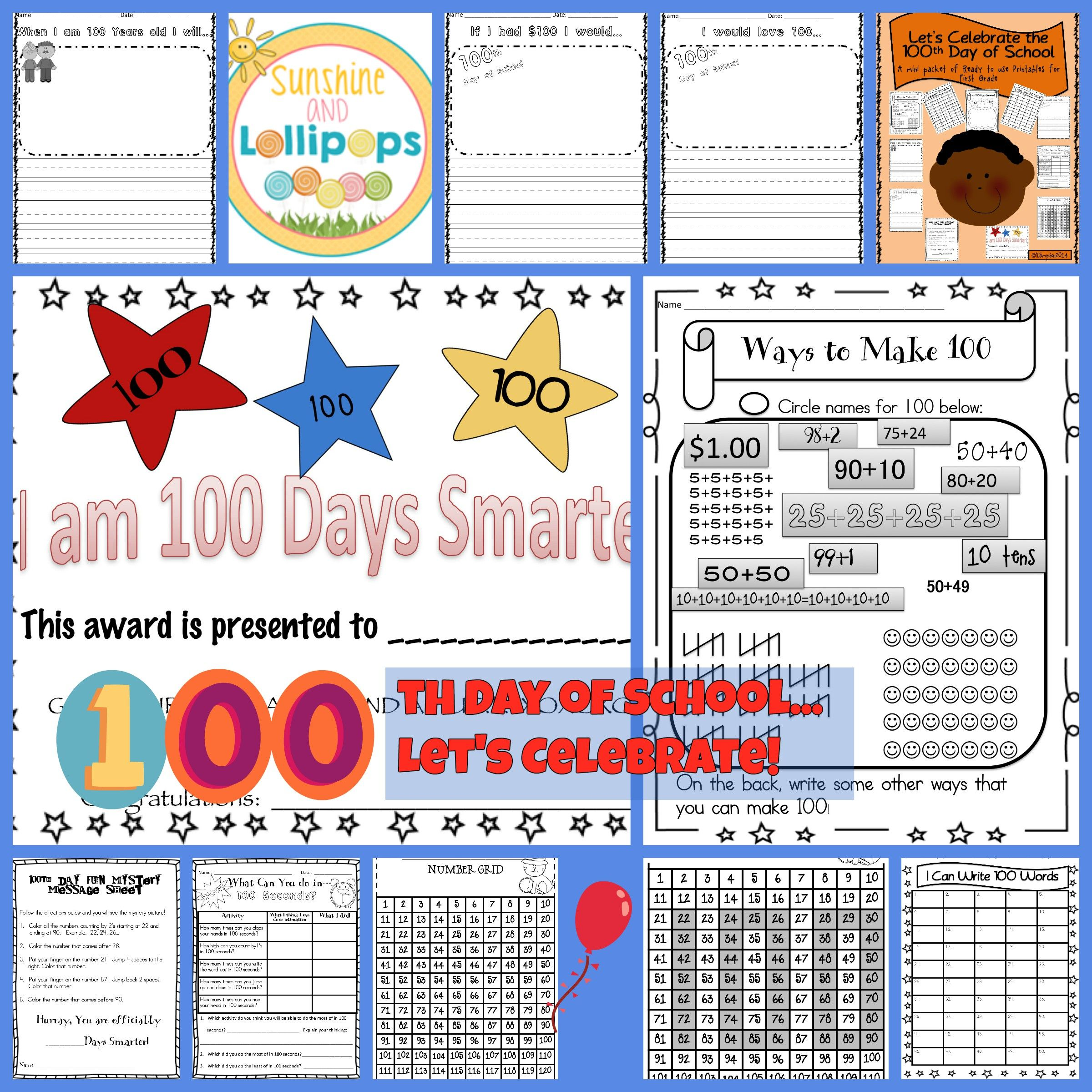 100th Day Of School Let S Celebrate The 100th Day Of