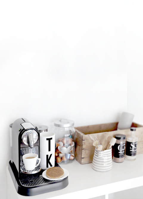 Make a Coffee Station in an Unused Space #smallspaces #coffeeadicts