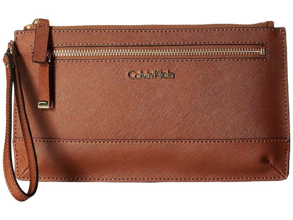 Calvin Klein Saffiano Leather Signature Wristlet & Reviews