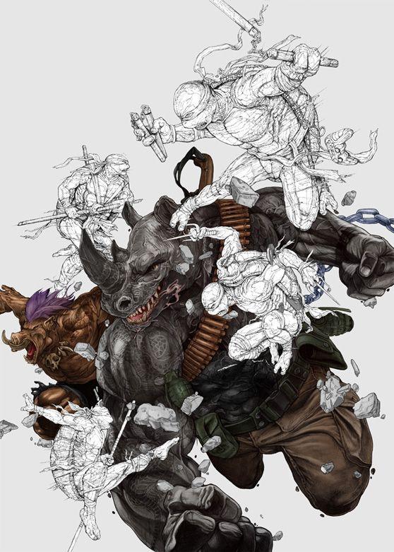 Incredible TMNT Movie Poster Design2