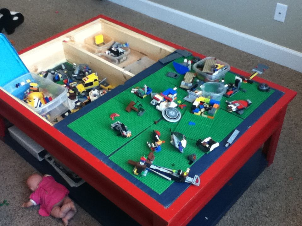 Beautiful The LEGO Table.  Thinking We Could Convert Our Train Table Into This.