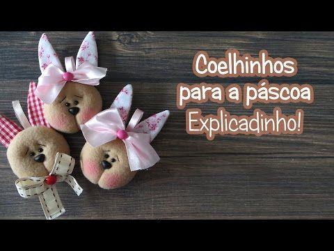 Coelhinha e Coelhinho Faça agora mesmo! #páscoa #c...