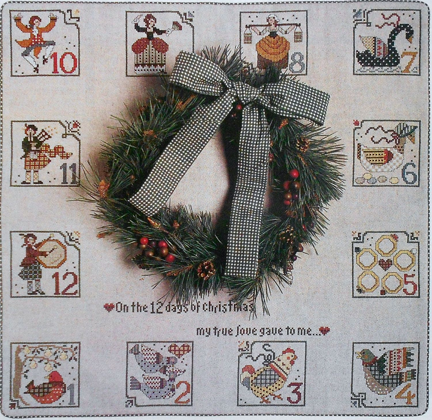 Robin Clark 12 Twelve Days Of Christmas Ornaments Or Wall Hanging Counted Cross Stitch Pattern Chart Fam Christmas Cross Holiday Patterns Christmas Crafts