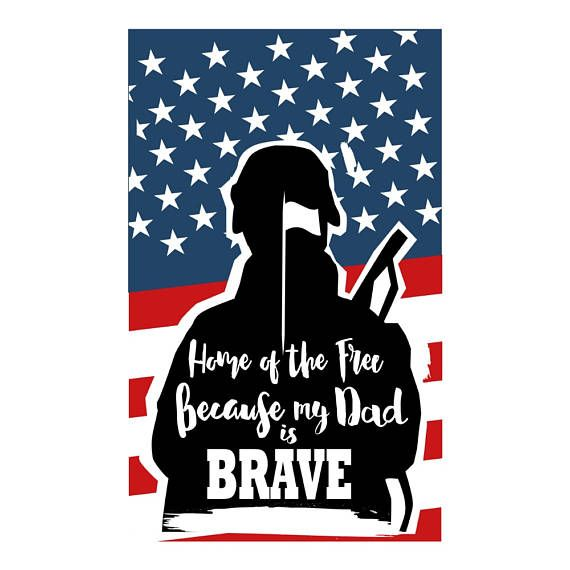 Download Home of the Free Because my Dad is Brave svg Fathers Day ...