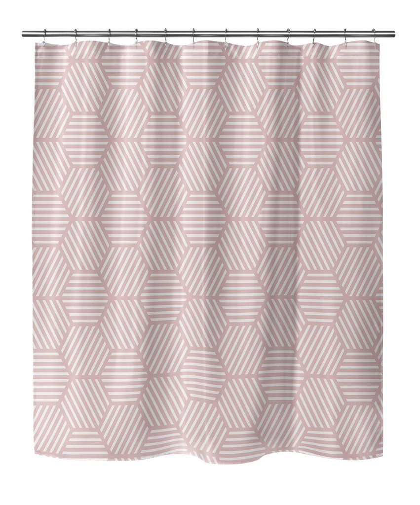 ATHENA PINK AND WHITE Shower Curtain By Terri Ellis In 2019