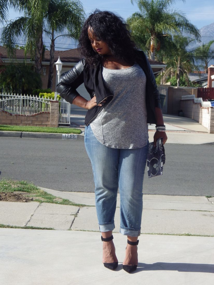 My Style- Laid Back in My Addition Elle Boyfriend Jeans | An, Bags ...