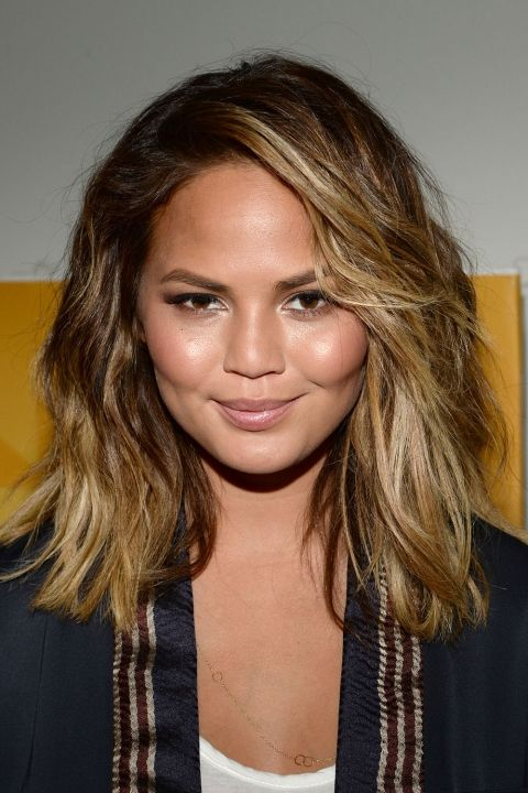 Hairstyles For Round Faces Celebrity Hairspiration Hair Pinterest