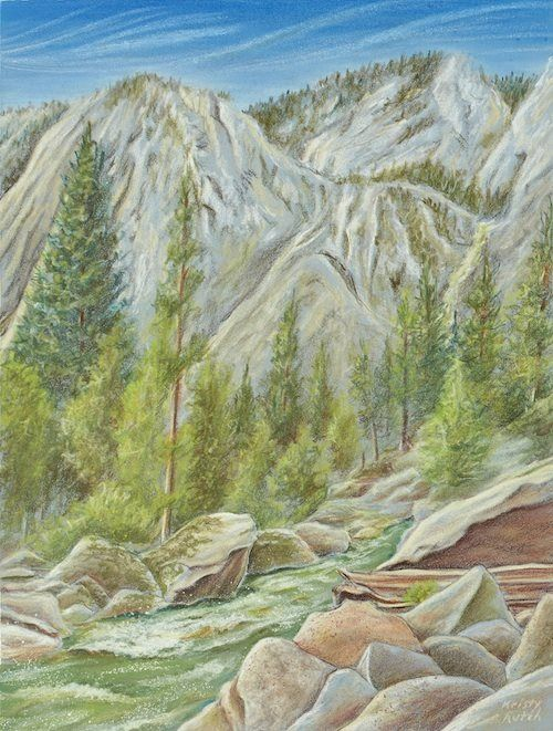 Colored Pencil Landscape By Kristy Kutch Landscape Drawings