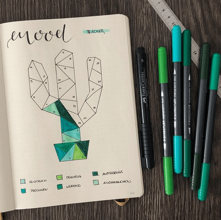 While mood trackers are easy enough to create, it makes things a lot more intereting if you can make tracking your mood fun, even on the days when you're not feeling your best. That's where these creative bullet journal mood trackers come into play. #bujo #bulletjournal