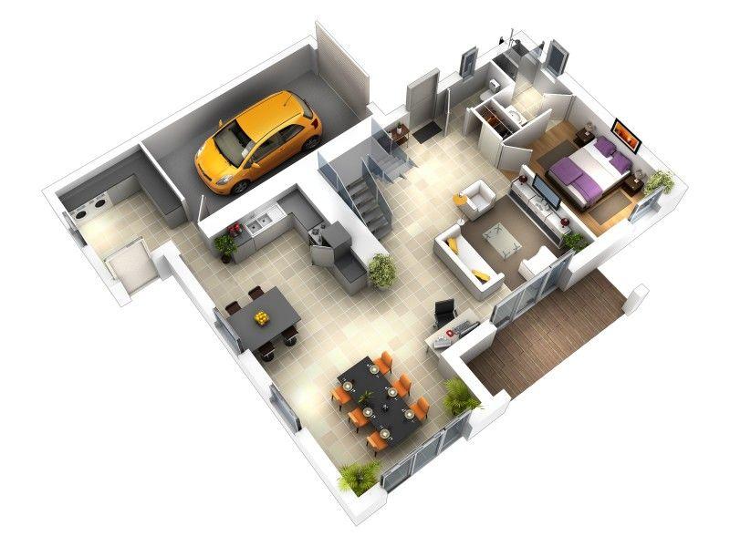 Modèle 102 m², modèle de construction de maison individuelle - modele de construction maison