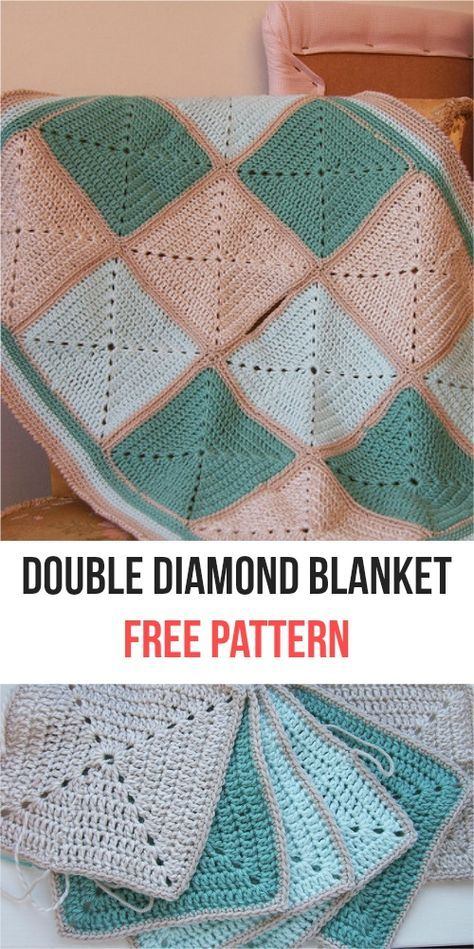 Easy Double Diamond Blanket Crochet Pattern Blanket Blanket