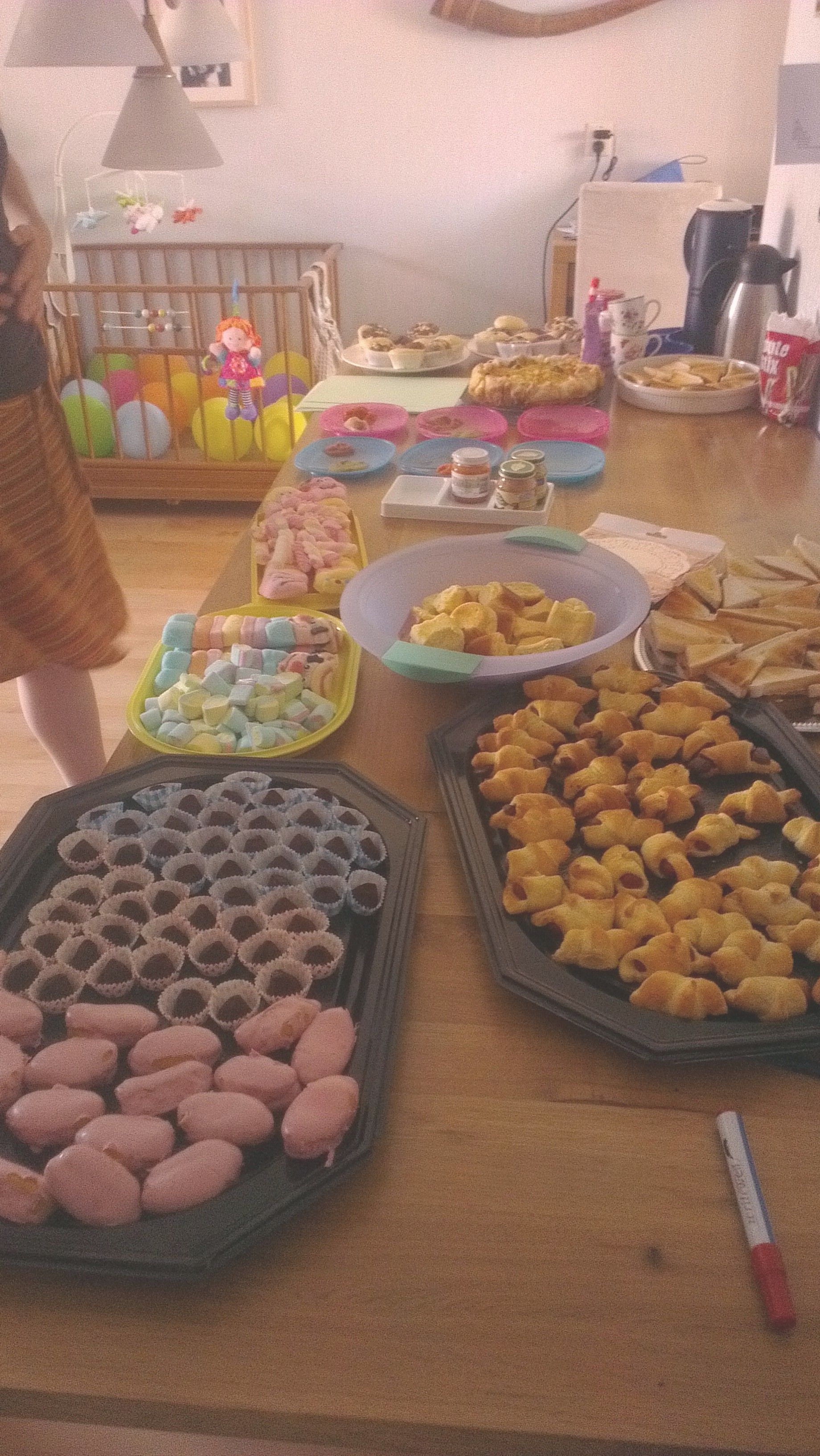 Babyshower; buffet table