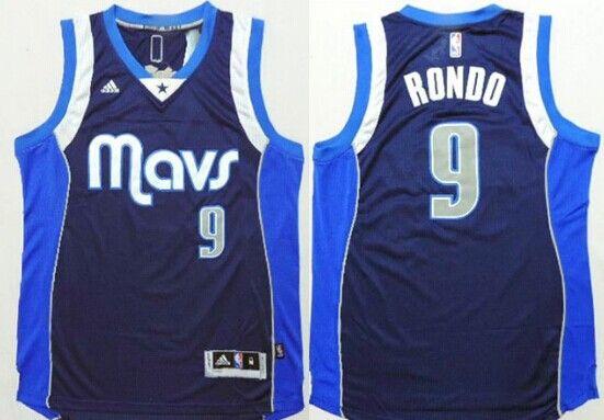 16b10ece1 ... Dallas Mavericks 9 Rajon Rondo Revolution 30 Swingman 2014 New Navy  Blue Jersey Mens Deron Williams 8 ...