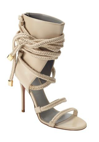 "[vc_row][vc_column width=""1/1""][vc_tabs][vc_tab title=""Description:"" tab_id=""1400429851-1-22""][vc_column_text]IN STOCK The Cosima sandals have been seen on countless street-style pictures - Jennifer Lopez, Rita Ora and Hailey Baldwin are all fans of the style. Carefully crafted with soft army green suede, this rope sandal bootie is set on a slender stiletto heel. Braided tonal green rope wrap effortlessly around the ankle. Silver zip at the b..."