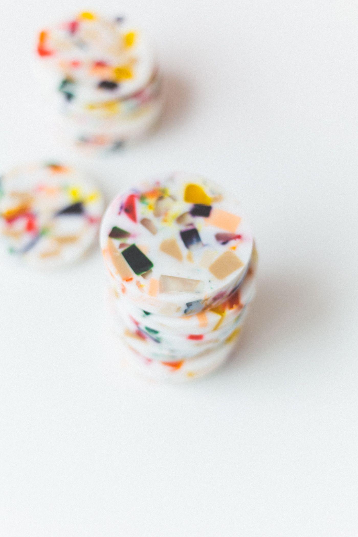 Новая одержимость |  Мыло с ломтиками в стиле терраццо своими руками |  Падение для DIY