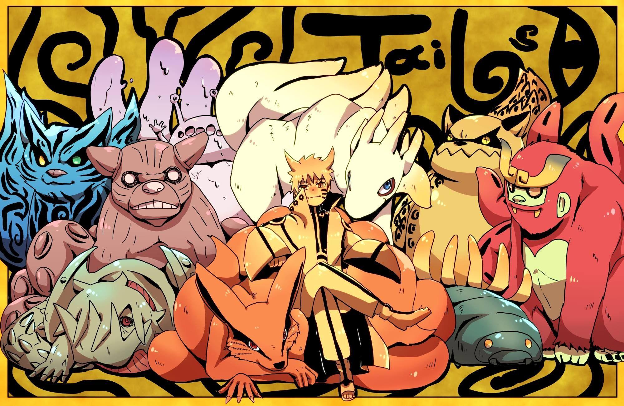 Bijuu Kiddies ^_^ _ Amazing Art. Naruto wallpaper, Anime