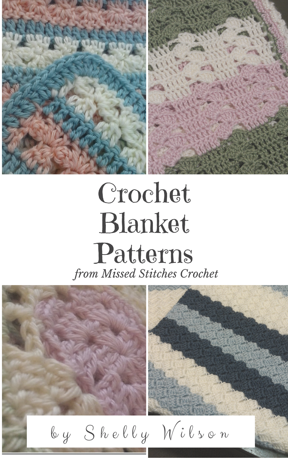 Crochet Baby Blanket in blue soft cluster stitches. | Crocheting ...