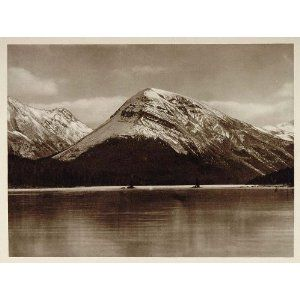 1926 Twin Tree Lake Jasper National Park Alberta Canada - Original Photograph