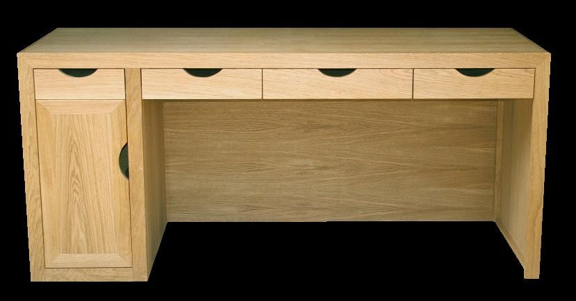 Contemporary Bespoke Oak Desk