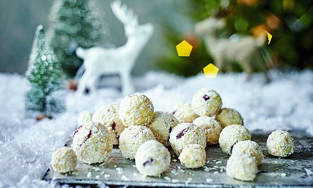 Festive showstoppers: Cranberry and coconut snowballs